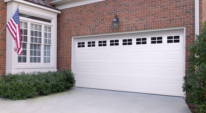garage door on a home