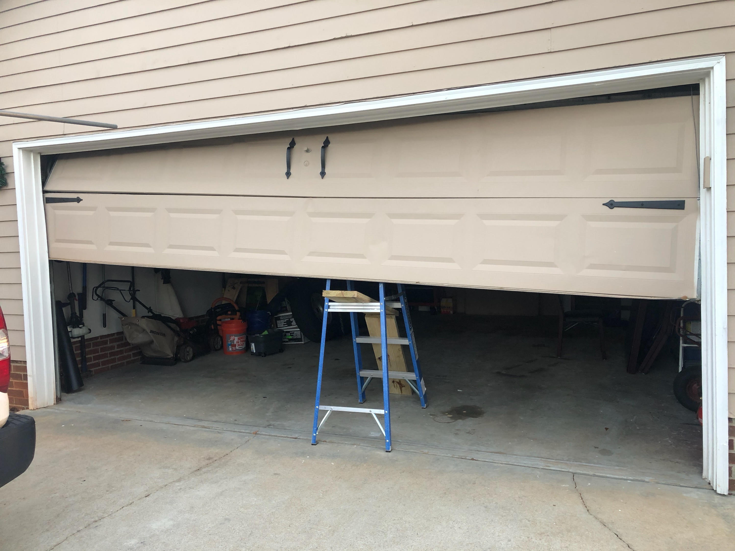 sideways garage door